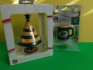 2 NFL Packers Christmas Ornaments - NIB