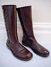 CELINE brown leather rivet detail boots size 37.5 WORN ONCE