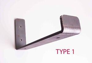 """Rustic Shelf Brackets Scaffold Board Heavy Duty 4"""" -13""""  Steel Metal - Pair"""