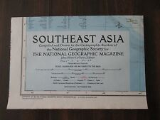 Southeast Asia National Geographic Large Map September 1955