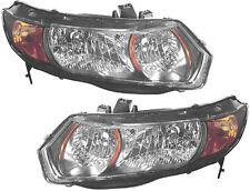 Headlight Headlamps Headlights NEW Set PAIR for 06-09 Honda Civic Si Coupe