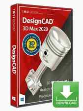 DesignCAD 3D Max 2020 CAD Design Software -- electronic download