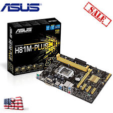 NEW Asus H81M-PLUS Intel H81 LGA 1150 HDMI DVI VGA Micro ATX Motherboard