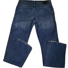 Esprit Mens Groove Slim Fit Jeans Button Fly Straight Leg Size 36 x 36