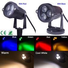 6 Colors 9W LED Landcape Light Garden Path Walkway Flood Spot Wall Light IP65