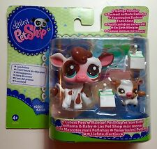 ✨Littlest Pet Shop✨VERY RARE Brand New in Box Mommy & Baby Cow #2505,2506