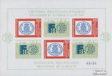 Bulgarie Bloc 184 (complète edition) neuf avec gomme originale 1989 Briefmarkena