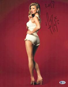 "Fergie Autographed 11"" x 14"" White Dress Photograph Beckett BAS COA"