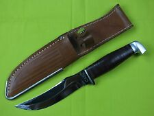 "CASE HUNTING FISHING FIXED BLADE KNIFE WITH LEATHER SHEATH 9 1/4"" OVERALL"