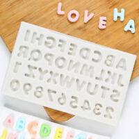 Alphabet Letter&Number Silicone Mould Biscuit Cutter Fondant Cake Decor Mold DIY