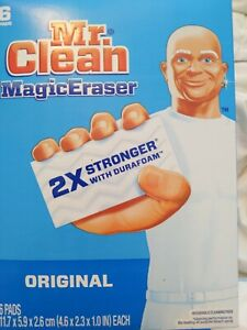 Mr. Clean Magic Eraser Original with Durafoam Household Cleaning Pads 6 Pack