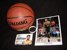 NBA Los Angeles Lakers Brandon Ingram signed basketball & 8 x 10 photo