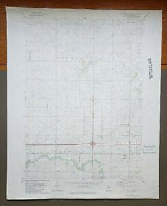 "Oza Tanka Lakebed, Minnesota Original Vintage 1982 USGS Topo Map 27"" x 22"""
