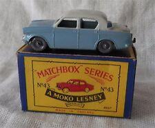 1960s.Matchbox.Lesney.43,Hillman Minx.Grey..plastic wheels.MINT IN BOX,ORIGINAL