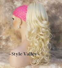 Light Blonde Ponytail Hairpiece Long Curly Jaw clip on in Extension Hair Piece