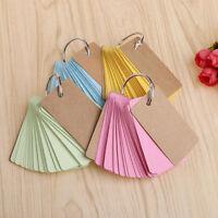 Craft Paper Binder Ring Easy Flip Flash Cards Study Memo Pads DIY Stationery