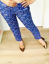 J.CREW WOMENS PANTS FULLY LINED FLORAL PRINT WORK PARTY SZ 6