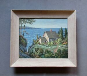 Listed Artist William W. Wright (1890-?) New Brunswick, Canada Oil Painting