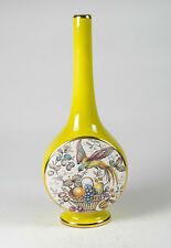Art Deco Carltonware yellow vase with bird design
