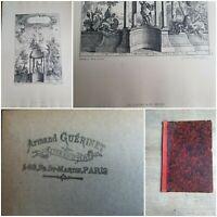 30 gravures Rococo XIXÈME/F.de Cuvilliés/Carl Albert von Lespilliez/CH.Claesen.