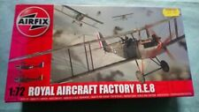 Airfix RE 8 1/72 box opened kit sealed in bag see photos. Belgian/RA