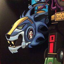 """DJ QBERT / SUPER SEAL """" GIANT ROBO V. 2 RIGHT ARM 10"""" AQUA BLUE VINYL ROBOT"""