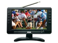"""Supersonic SC-499 9"""" LCD Portable Rechargeable Digital TV/Television +Remote"""
