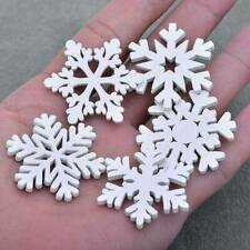 20x MINI Wood Snowflakes Hanging Pendant Christmas Tree Ornaments Home Decor