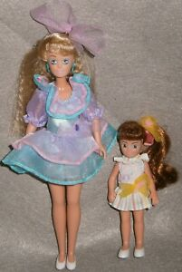 VINTAGE 1992 REMCO ~ THE BABYSITTERS CLUB DOLLS, STACEY & CHARLOTTE w/ OUTFITS