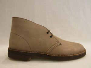 CLARKS  DESERT BOOT scarpa uomo in pelle scamosciata color sabbia WOLF SUEDE