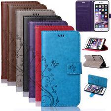Handy Tasche Flip Cover Case Schutz Hülle Etui Wallet 7 Farbe Für Samsung&iPhone