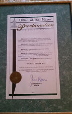Maya Angelou 2000 Oakland Ca Proclamation Signed By Mayor Jerry Brown