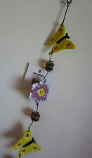 Spinning Wind Dangling Yellow Butterfly Hanging Patio Yard Art Decoration