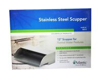 "Atlantic SS12 Stainless Steel Scupper 12"" Wide Waterfall Spillway-formal-box"