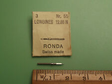Longines 12.68N Watch Winding Stem x 1 Part #401 SWISS Made Ronda 55 Fast Post