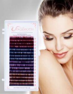 1 Tray Mink False Eyelashes Extension Synthetic Hair Handmade Individual Makeup