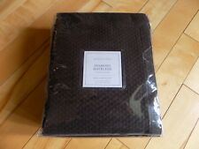 "Restoration Hardware Diamond Matelasse SHLE Dark Brown Shower Curtain 72""X72"""