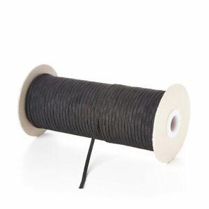 Premium 3mm 4 Cord Black Woven Flat Elastic Craft Sewing Face Mask 1m-20m length