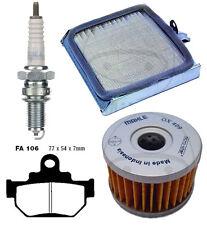 Wartungs-Set Öl- Luft-filter Bremsbeläge Zündkerzen f. Suzuki LS 650 Savage