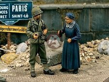 """Verlinden 1/35 """"Liberation Normandy"""" US G.I. with Old Woman 1944 (2 Figures) 838"""