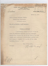 United Shoe Machinery Corporation 1927 letter signed by attorney Nelson B. Todd