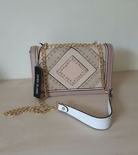 River Island pink and nude stud and eyelet cross body shoulder bag BNWT