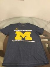 Michigan Wolverines Adidas Aeroknit Football Basketball T-Shirt Small Excellent