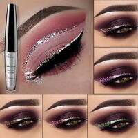 16 Colors Waterproof Metallic Shiny Smoky Eyeshadow Glitter Liquid Eyeliner