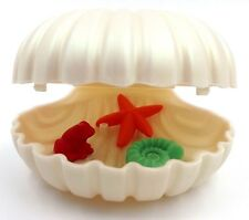 Playmobil Sea Clam Shell Large Hinged with Starfish White Shell Red Frog N23