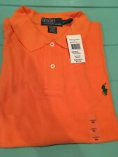 Ralph Lauren Mesh Polo Short Sleeve Sun Orange w/ Green Pony Men's New XXL NWT
