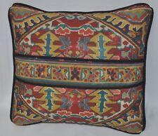 Pillow made w Ralph Lauren Oxfordshire Southwest Aztec Fabric 12x11 trim cording