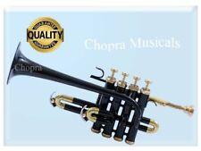 Piccolo Trumpet Black 4 Valve with Box High Quality Chopra