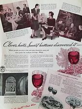 1940 How To Serve Wine All You Need To Know Clever Host Original Ad