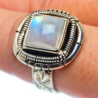 Rainbow Moonstone 925 Sterling Silver Ring Size 8.5 Ana Co Jewelry R37510F